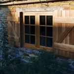 High performance flush stormproof windows with shutters